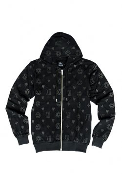 million dollar orchestra - hell monogram Parka (BLACK×BLACK)