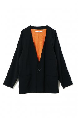 MUZE - NO COLLAR JACKET (BLACK)