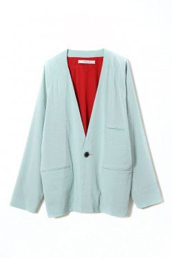 MUZE - NO COLLAR JACKET (MINT GREEN)