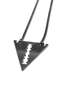 【40%OFF】PARADOX - RAZOR TRI NECKLACE (GUNMETAL BLACK)
