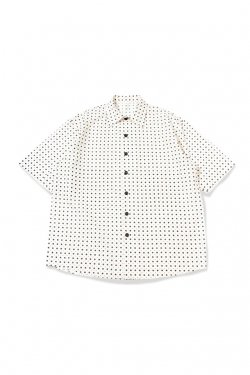 【30%OFF】ETHOS - PILA DOT S/S SHIRTS (WHITE)