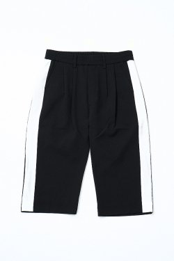 MUZE - SIDE LINE EASY PANTS (BLACK-WHITE)
