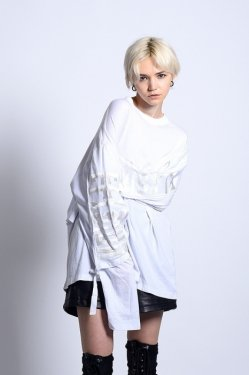 PARADOX - LAYERED LONG TEE (WHITE)