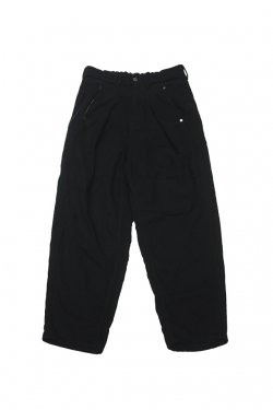 【20%OFF】JieDa - TUCK KERSEY PANTS (BLK)