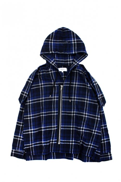 【30%OFF】PARADOX - HOODED SHIRTS (BLUE)