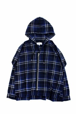 【50%OFF】PARADOX - HOODED SHIRTS (BLUE)