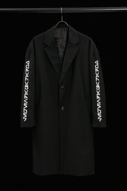 PARADOX×LEGENDA - EMBROIDERY CHESTER COAT(BLK×WHT)