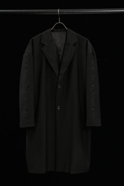 PARADOX×LEGENDA - EMBROIDERY CHESTER COAT(BLK×BLK)