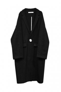 MUZE - TURN LOCK CHESTER COAT(BLACK)