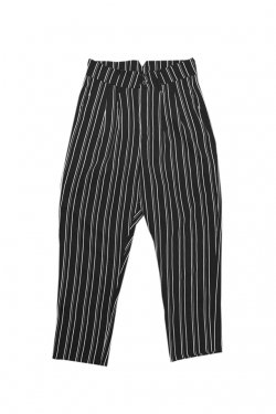 MUZE - STRIPE SLACKS(BLACK)