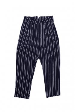 MUZE - STRIPE SLACKS(NAVY)