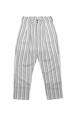 MUZE - STRIPE SLACKS(WHITE)