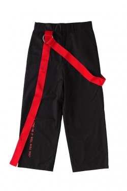 【50%OFF】PARADOX-BELT PANTS(BLACK-SCARLET)