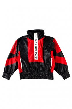 PARADOX-SWITCHING PULLOVER BLOUSON(SCARLET)