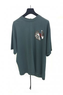 KOMAKINO - JERSEY CUTS T-SHIRT W / PRINT 2 HANDS (GRAY)