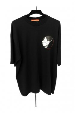 【10%OFF】KOMAKINO - JERSEY CUTS T-SHIRT W / PRINT 3 HANDS (BLK)