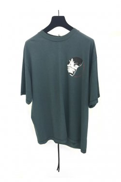 KOMAKINO - JERSEY CUTS T-SHIRT W / PRINT 3 HANDS (GRAY)