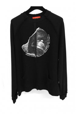 KOMAKINO - INSIDE-OUT RAGLAN CREWNECK (BLACK)