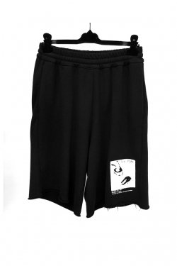 KOMAKINO - JERSEY ELASTICATED SHORTS (BLK)
