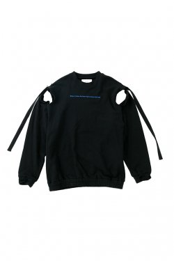 【50%OFF】PARADOX - STRING SHOULDER SWEAT (BLACK) パラドックス スウェット