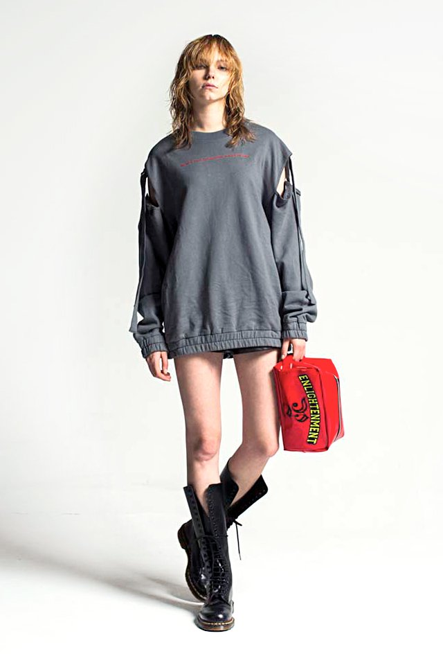 【50%OFF】PARADOX - STRING SHOULDER SWEAT (GRAY) パラドックス スウェット