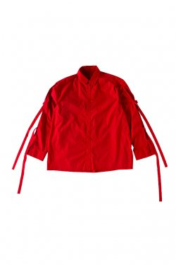 【50%OFF】PARADOX - ARM BELT SHIRTS (SCARLET) パラドックス シャツ