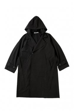 MUZE - HOODED TRENCH COAT (BLACK)
