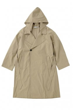 MUZE - HOODED TRENCH COAT (BEIGE)