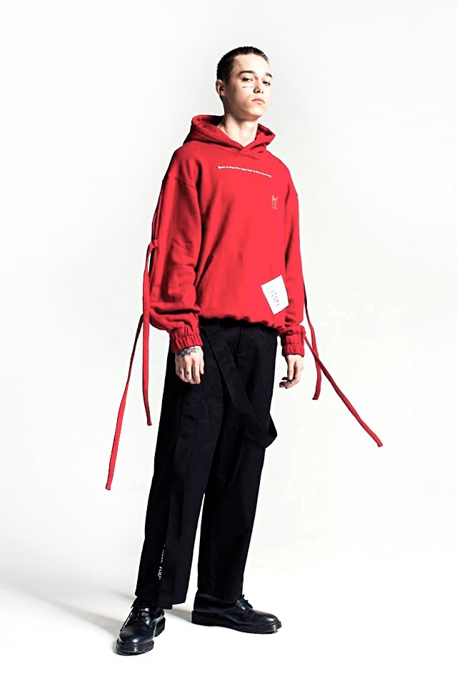 【50%OFF】PARADOX - ARM BELT PARKA(SCARLET) パラドックス パーカー