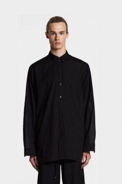 【20%OFF】ODEUR - SLIT ZIP SHIRT (BLACK)