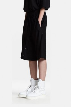 ODEUR - CORD LONG SHORTS (BLACK)