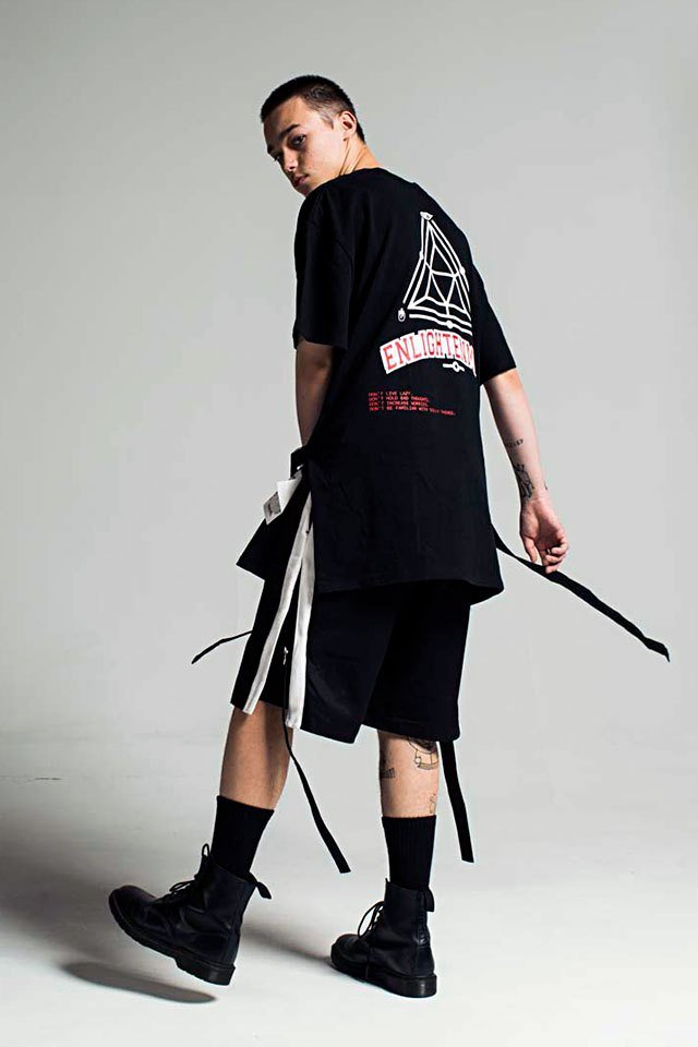 【50%OFF】PARADOX - OVER S/S SLIT TEE (BLACK)
