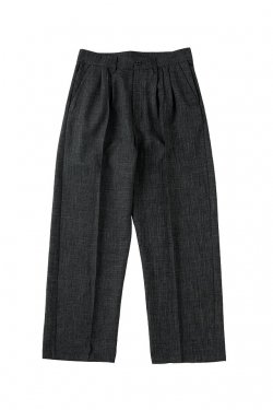 MUZE - CHAMBRAY SLACKS (GRAY)