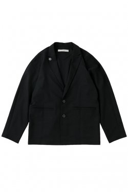 MUZE - CHAMBRAY TAILORED JACKET (BLACK) ミューズ ジャケット