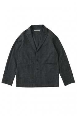 MUZE - CHAMBRAY TAILORED JACKET (GRAY) ミューズ ジャケット