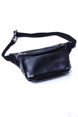 FORTY FOUR - LOGO WAIST BAG (BLACK)