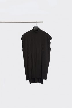 MINUS - MOCK NECK PLEATS NS (BLK)