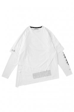 MUZE- NOISE LAYERED TEE (WHITE)
