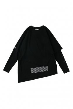 MUZE- NOISE LAYERED TEE (BLACK)