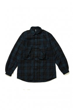 ETHOS - NEL POCKET SHIRT (BLACK CHECK)