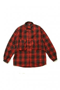 ETHOS - NEL POCKET SHIRT (RED CHECK)