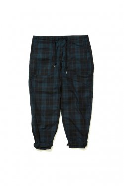 ETHOS - CHECK STRAP PANTS (BLACK CHECK)