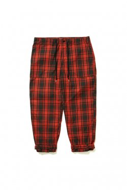 【10%OFF】ETHOS - CHECK STRAP PANTS (RED CHECK)