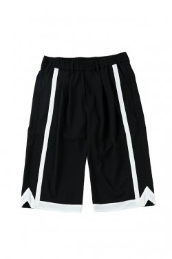 MUZE - BASKET SLACKS (BLACK-WHITE) ミューズ パンツ スラックス