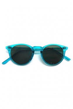 H>FRACTAL- CLEAR SUNGLASS (BLUE×BLACK) GRAPHIC POUCH SET フラクタル サングラス