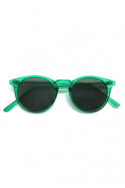 H>FRACTAL- CLEAR SUNGLASS (GREEN×BLACK)  GRAPHIC POUCH SET フラクタル サングラス