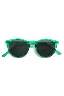 H>FRACTAL- CLEAR SUNGLASS (GREEN×BLACK)  GRAPHIC POUCH SET フラクタル サングラス