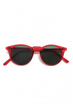 H>FRACTAL- CLEAR SUNGLASS (RED×BLACK)  GRAPHIC POUCH SET フラクタル サングラス