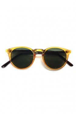 H>FRACTAL- CLEAR SUNGLASS (YELLOW×BLACK)  GRAPHIC POUCH SET フラクタル サングラス