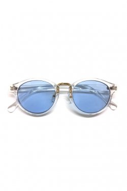 H>FRACTAL- CLEAR SUNGLASS (CLEAR×LIGHT BLUE)  GRAPHIC POUCH SET フラクタル サングラス